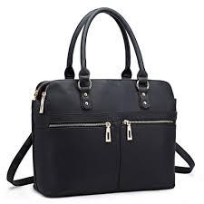 miss lulu women s faux leather laptop handbag