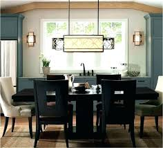 chandelier height above dining table dining room