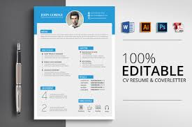 Creative Design Resume Cv Template Word Vsual