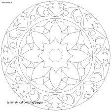 Symmetrical Coloring Pages Mandala Pa