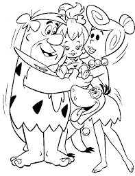 Small Picture Flintstones printable coloring pages for kids Download free