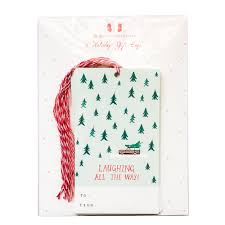 Laughing All The Way Gift Tags Set Of 6 Mr Boddingtons Studio