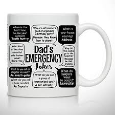Coffee mug creative 304 stainless steel thermos cup water bottle vacuum insulated tumbler tea cup. Amazon Com Novelty Coffee Mug For Dad Dad Jokes Wrap Around Print Gift Idea For Fathers Best Dad Gift Gag Father S Day Gift Funny Birthday Present For Dad From Daughter Son Kitchen