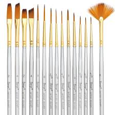 best brushes for acrylic painting on canvas new bianyo detail paint brush set 15 piece miniature