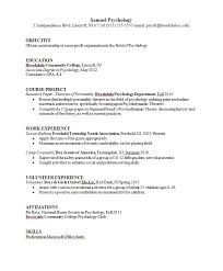 Licensed Psychologist Sample Resume Awesome Resume Examples Psychology Resume Samples Objective Of Obtain