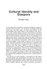 cultural identity and diaspora cultural identity and diaspora stuart hall