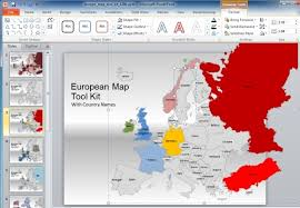 free editable maps map powerpoint template free europe map template for powerpoint
