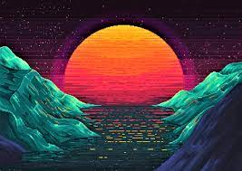 Neon Retro Sun Wallpapers - Wallpaper Cave