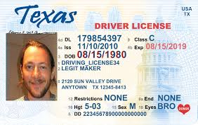 Texas Driving Buy Makers License