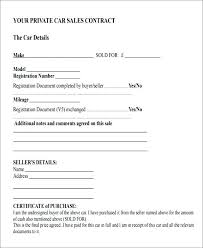 Blank Bill Of Sale For Automobile Simple Car Printable – Onbo Tenan