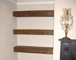 Thick Floating Wall Shelves Chunky Floating Shelf The Cool Wood Company 2