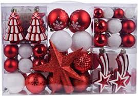 red christmas tree decorations - Amazon.co.uk