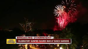 photo by wfts celebratory fire injures man at busch gardens