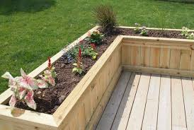 built in deck planters deck planterflower box sawdust therapy flower boxes b86