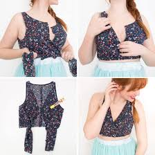 Crop Top Design Pattern How To Make A No Sew Crop Top In Less Than 15 Minutes