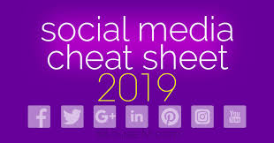 updated for 2019 social media cheat sheet with image sizes for facebook twitter google