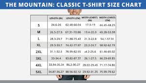 The Mountain Shirt Size Chart Uk European Wholesale Of The Mountain T Shirts Unique