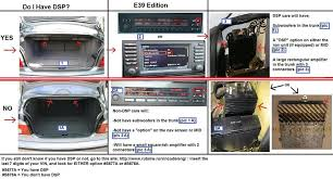 how do you know whether you have non dsp or dsp audio system e39 1997 2003 > how can i visually tell if the stereo is dsp or not >