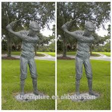 antique outdoor garden decor br golfer playing golf statue