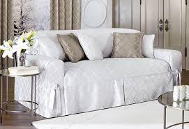 sofa covers. Brilliant Covers Durham White Sofa Cover Slipcovers Sleek Fabric Material Diamond Shape  Fundas Armrest Square Brown Pillows Pleat To Sofa Covers O