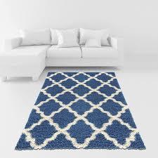 com soft area rug 5x7 moroccan trellis blue ivory gy rug