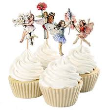 Amazoncom 24pcs Pretty Fairy Cupcake Toppers For Cake Decorations