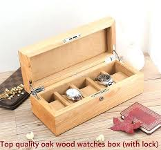 wooden boxes with lock top quality oak wooden watch box watches collection boxes with lock wooden wooden boxes with lock