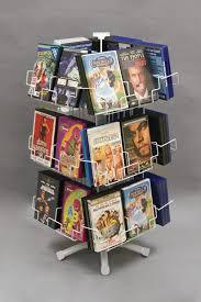 white 24 pocket dvd counter spinner