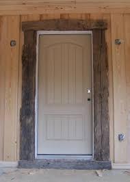 rustic door trim sun room trimmed with old barn wood