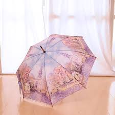 fashionable umbrella umbrella jumping umbrella masterpiece handle jumping umbrella monet water church famous umbrella imported gadgets