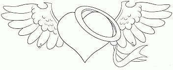 Printable Coloring Pages Angel Wings Bing Images Card From User