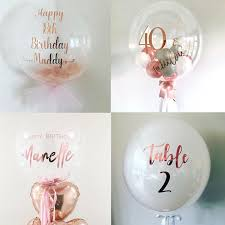Customized <b>1pc</b> Bubble Balloons <b>Rose Gold</b> Foil Stickers baby ...