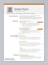 Resume Template On Word Free Resume Example And Writing Download