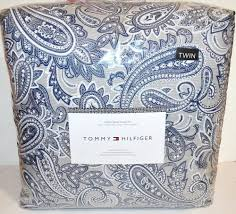 new tommy hilfiger josephine paisley twin comforter sham set navy gray 766195419569