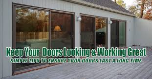 tips to keep your sliding patio doors