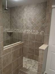 walk in tile shower no door - Google Search