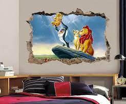 lion king simba smashed wall decal