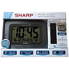 sharp wireless outdoor sensor. sharp digital atomic wall clock - gray wireless outdoor sensor e