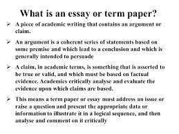 writing a term paper what is an essay or term paper  a piece