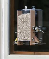 one way mirror window bird feeder