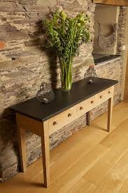 sofa table oak top console iron console slate sofa table with stone top ideas