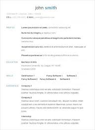 templet for resume easy cv template
