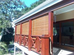 back to unique outdoor bamboo shades ideas