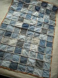Denim rag quilt throw | SMCDesigns on ArtFire & Denim rag quilt throw Adamdwight.com