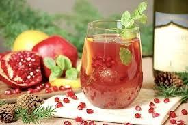 pomegranate orange white wine l