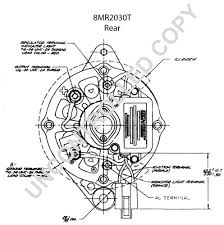 8mr2030t alternator product details prestolite leece neville 8mr2030t rear dim drawing
