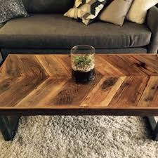 Buy Custom Made Reclaimed Wood Chevron Coffee Table With Tubular Steel  Legs, Made To Order From Urban Mining Company | CustomMade.com