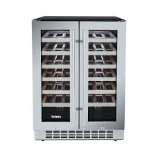 built in dual zone wine cooler.  Wine TITAN 42Bottle French Door Seamless Stainless Steel Dual Zone Built In Wine  CoolerTTCWWC2121DZ  The Home Depot With Cooler D