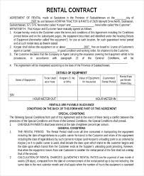 lease agreement sample 12 rental contract templates free pdf word documents download