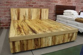 rustic wooden bed frame